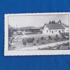 CARTE POSTALA , STRAND SI FABRICA ACID CARBONIC COVASNA , CIRCULATA , 1939