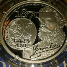 ROMANIA-2015: Moneda 10 lei Argint 145 de ani Monetaria Statului