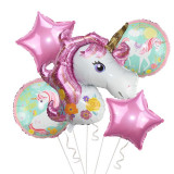 Set 5 baloane Unicorn magic, superhape, 110 cm