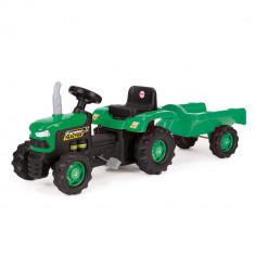 Masinuta cu pedale Dolu - Tractor cu remorca