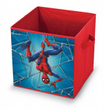 Cutie pentru depozitare jucarii, Spiderman Rosu, L32xl32xH32 cm