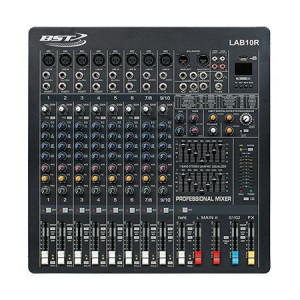 MIXER 10 CANALE PHANTOM 48V CU PLAYER USB,BST