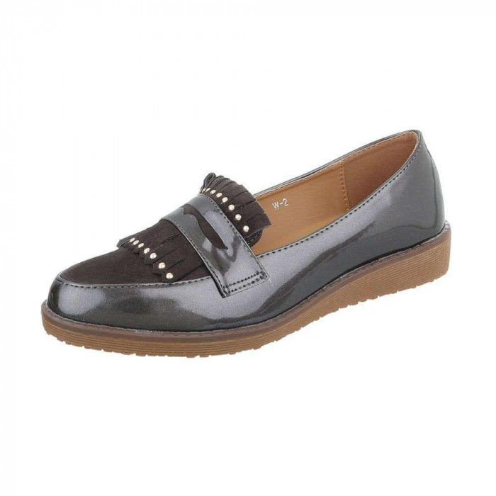 Pantofi trendy, casual, de culoare gri