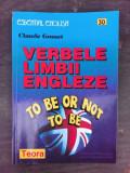 VERBELE LIMBII ENGLEZE - CLAUDE GOSSET