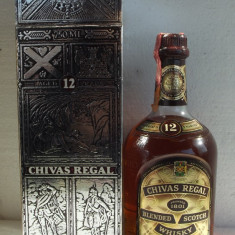 WHISKY, CHIVAS REGAL,  AGED 12 YEAR  ani 80 -  CL 70 GR 40 IMP SEAGRAM ITALY