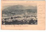 SV * Salutari  din  CAMPULUNG  *  1899  *  KIMPOLUNG  BUKOWINA  *  RARA !, Campulung Moldovenesc, Circulata, Fotografie, Printata