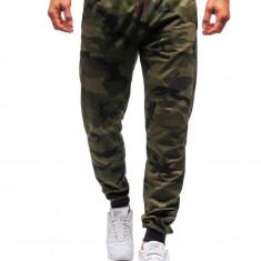 Pantaloni de trening bărbați camuflaj-verde Bolf MK19