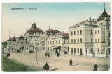 2363 - CERNAUTI, Bucovina, Moldova, railway station - old postcard - unused
