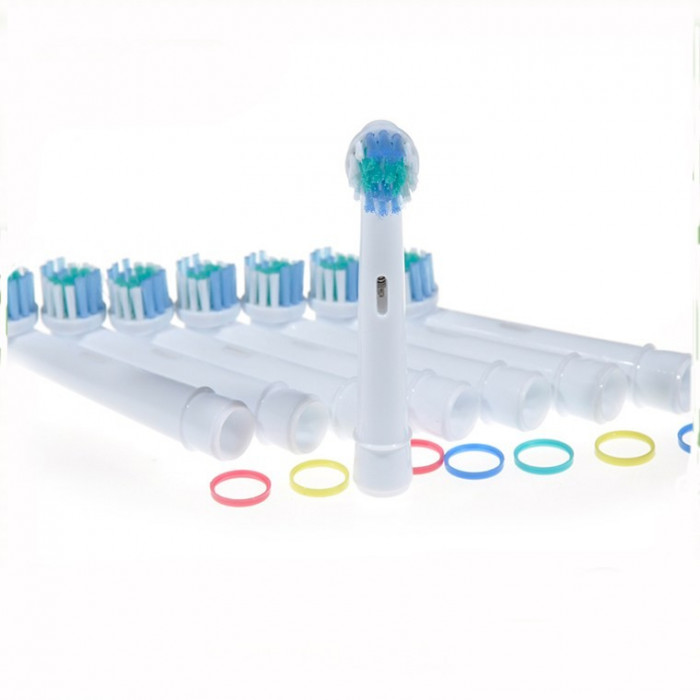 Rezerve periuta de dinti electrica Pebadent Sensitive, compatibil cu Oral-B, 4 buc