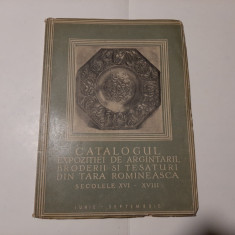 CATALOGUL EXPOZITIEI DE ARGINTARII, BRODERII SI TESATURI