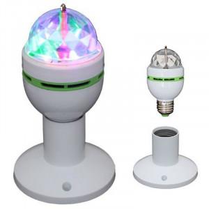 Bec cu Led-uri, soclu E27, RGB si cap rotativ, 3 W