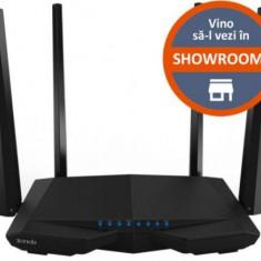 Router Wireless Tenda AC6, Dual Band, 1200 Mbps, 4 Antene externe (Negru)