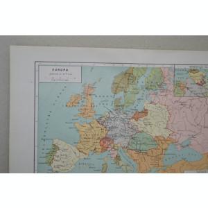 Groningen JB Wolters Harta Europei a secolului 18 harta veche cca 1900