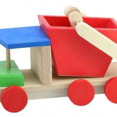 Camioneta gunoier cu container lemn