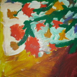 TABLOU PE CANVAS. ACUARELE., Flori, Acuarela, Impresionism