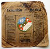 O.502 DISC PATEFON GRAMOFON COLUMBIA ISRAEL MORRIS GOLDSTEIN ETICHETA GRAMOFONUL, VINIL