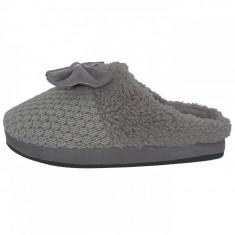 Papuci de casa dama din textil, din textil, marca s.Oliver, 5-27104-31-14-15, gri , marime: 40