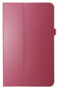 Husa tip carte rosie (textura Litchi) cu stand pentru Samsung Galaxy Tab A 10.1 T580 (2016) / Galaxy Tab A 10.1 LTE T585