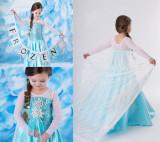 Rochie rochita Frozen Elsa 4,5,6,7,8,9 ani, 5-6 ani, Turcoaz