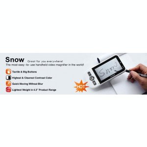 Lupa video portabila SNOW S (HD) cu display de 4,7""