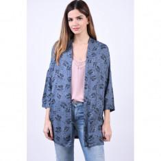 Kimono Floral Vascoza Object Yrsa 3/4 Albastru