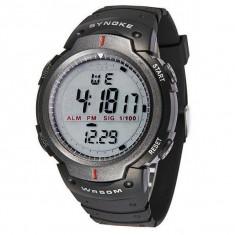 Ceas Sport Waterproof Barbatesc Synoke Syn1001 ARGINTIU