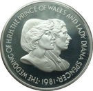Falklands 50 Pence 1981 -Charles & Diana, Argint 28.28g/925, Aoc1 KM-16a UNC !!!