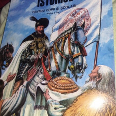 Carte vintage,Povestiri istorice pentru copii si scolari,ilustratii-D.Almas,T.GR