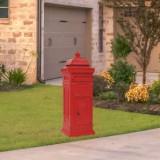 Cutie poștală stâlp, aluminiu, stil vintage, inoxidabil, roșu