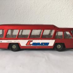 Jucarie veche chinezeasca tabla Autobus Coach MF 184, anii 70, 30x8x8cm