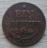 Lot 2 monede : 1 kreuzer 1816 + 3 kreuzer 1851 Austria, Europa
