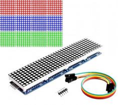 Modul matrice 8x8 LED-uri driver MAX7219 4in1 -ROSU- Arduino + 5 fire (m.1025) foto