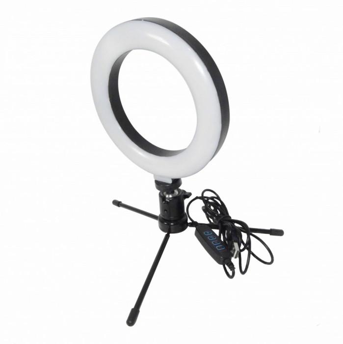 Inel de iluminat pentru poze profesionale cu mini trepied inclus