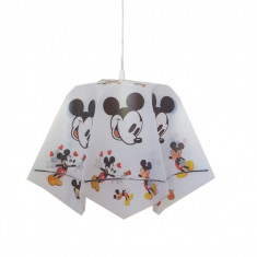Pendul copii Mikey Mouse, 1*E27, abajur plastic, inaltime reglabila