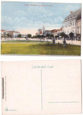 Targu Mures 1915(aprox.) - Piata Szecheny, ilustrata necirculata foto