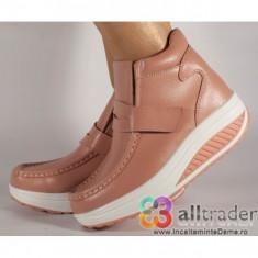 Ghete roz piele naturala talpa convexa (cod AC019-39)