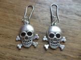 Cercei pirat / otrava - zamac argintat