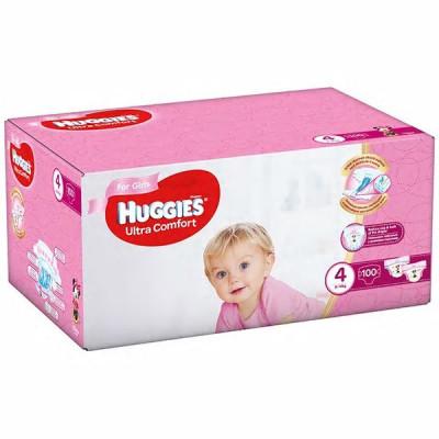 Scutece Huggies Ultra Comfort Nr.4, Fetite, 8-14 kg, 100 buc foto