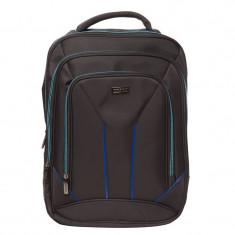 Rucsac laptop Toledo Lamonza, 42 x 31 cm, Negru/Albastru