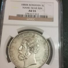 5 lei 1880 au 55 ngc