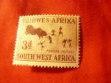Timbru Sud Vest Africa - Namibia , val. 3p 1954 desene rupestre, Nestampilat