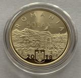 50 Bani 2018 PROOF in capsula-140 Ani de la unirea Dobrogei cu Romania, Alama