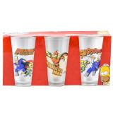 Set 3 pahare imprimate, The Simpsons, 330 ml, Sega