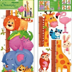 Room Decor Sticker de perete cu masurator inaltime animale 70x32cm