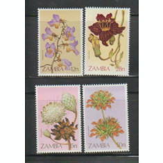 Zambia 1983 - Flori, serie neuzata