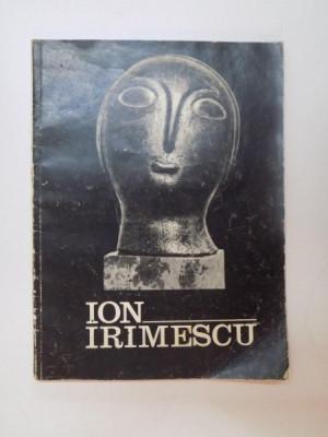 ION IRIMESCU , EXPOZITIA RETROSPECTIVA , SCULPTURA SI GRAFICA , 1973 foto