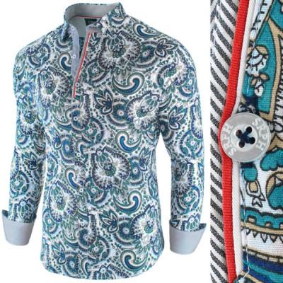 Camasa pentru barbati, cu model, slim fit, casual wh5 - Latin Soul Reloaded foto