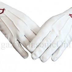 Manusi bumbac albe simbol rosu pentru ucenici