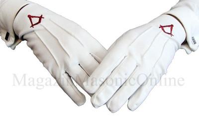 Manusi bumbac albe simbol rosu pentru ucenici foto