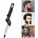 Perie electrica multifunctionala de indreptat parul și barba